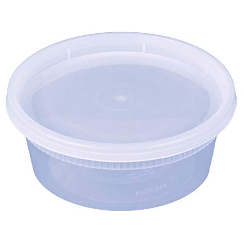 8 oz. Plastic Deli Food Storage Containers with Airtight Lid