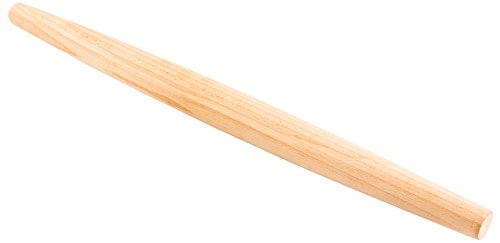 18-inch Tapered Solid Wood French Rolling Pin: Perfect for Restaurants and Bakeries – Made from Beechwood – Commercial Grade – 1-CT – Restaurantware by Restaurantware