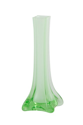 "Royal Imports Flower/Bud Glass Vase Decorative Centerpiece For Home or Wedding by Small Desktop, 6"" Tall, Green"