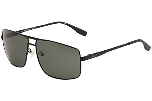 Nautica Men's N5115S-005 Polarized Sunglasses, Matte Black, - Nautica Sunglasses