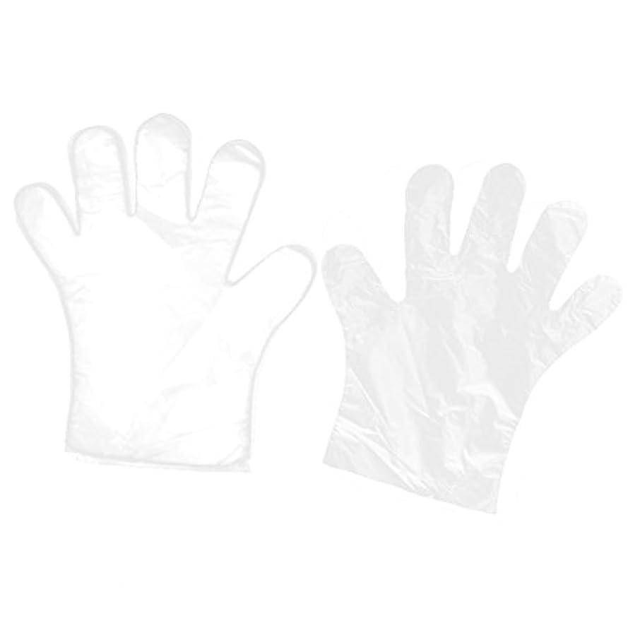 気怠い反毒今日uxcell 使い捨て手袋 家キッチン レストラン の食べ物サービス ハンド用 透明 100個入り