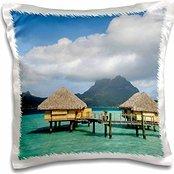 Resorts - Pearl Beach Resort, Bora-Bora, French Polynesia - Sergio Pitamitz - 16x16 inch Pillow Case ()