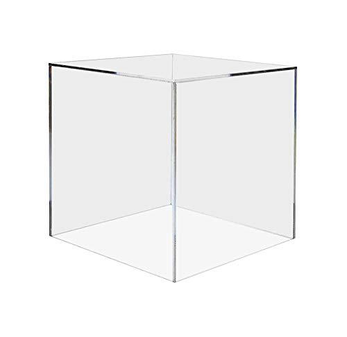 Marketing Holders Small Acrylic Platform Desktop Display Box 5 Sided Art Sculpture Pedestal Cube Cover Trophy Picture Retail Showcase Storage Bin 4