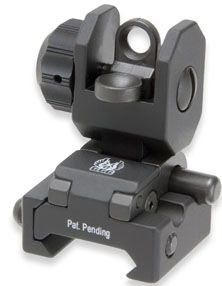 GG&G Spring Actuated A2 Rear Peep Spring Flip Up Sight w/ Trijicon Tritium A2 by G&G