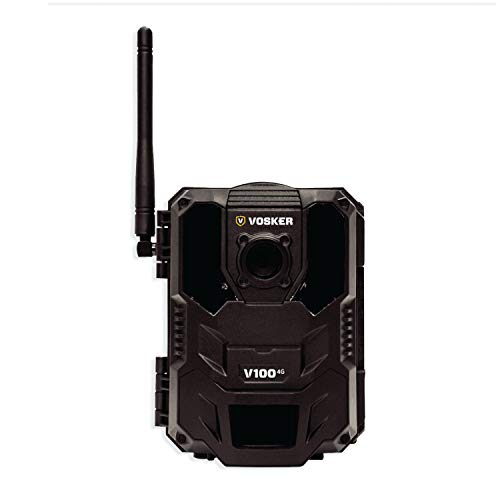 Vosker V100 4G Outdoor Security Camera (Wireless) Weatherproof Protection | No Wi-Fi Required | Battery Operated | Invisible Night Vision IR Surveillance Camera | Free Data Plan Available