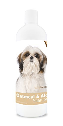 Image of Healthy Breeds Dog Oatmeal Shampoo with Aloe for Shih Tzu - Over 75 Breeds – 16 oz - Mild and Gentle for Itchy, Scaling, Sensitive Skin – Hypoallergenic Formula and pH Balanced