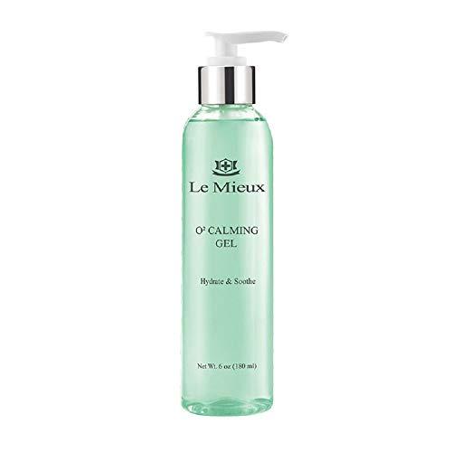 Le Mieux O2 Calming Gel - Hydrating Facial Gel with Hyaluronic Acid + Aloe (6 oz / 180 ml)