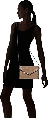 Chicca Borse Damen Unterarmtasche, 25 cm Orange (Cuoio)
