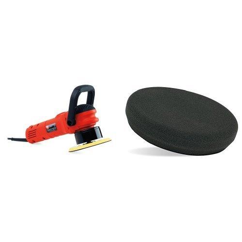 Griot's Garage 10813LNGCRD 6'' Random Orbital Polisher with 6.5'' Black Foam Finishing Pad