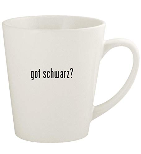 got schwarz? - 12oz Ceramic Latte Coffee Mug Cup, White (Damen Alles In Einem Badeanzug)
