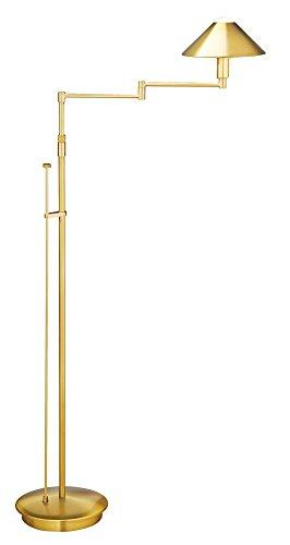 Halogen Antique Swing Arm Brass (Holtkoetter 9424 AB Lighting for The Aging Eye Halogen Swing-Arm Floor Lamp, 9.25