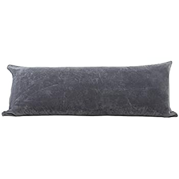 EVOLIVE Soft Micromink, Faux Fur, Faux Suede Body Pillow Cover Replacement with Zipper Closure (Grey, 21