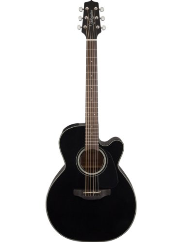 Takamine GN30CE-BLK G Series NEX Cutaway Acoustic-Electric Guitar Bundle with Gig Bag, Tuner, Strap, Strings, Picks, and Polishing Cloth - Black
