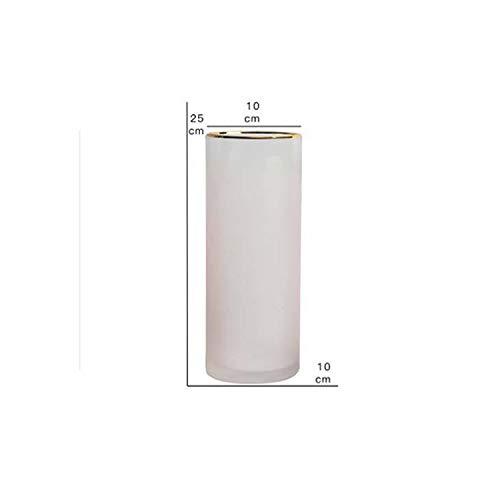 Jfoier dercation vases Pink/Green Nordic Gradual Frosted Glass Transparent Vase Straight Tube Hydroponics Bottle Flower Vase Home/Party/Wedding Decor,Pink M