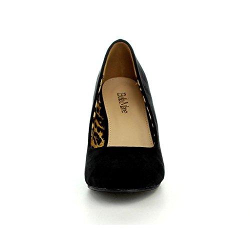 Mid Burgundy On Shoes Toe Pump Almond Classic Bella Nine Wedge 5 Womens Marie Slip f0APOwUq