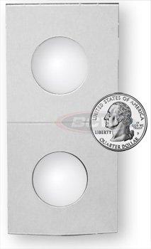 500 Count 2X2 Premium Cardboard Coin Holders (Mixed)- 100 Penny, 100 Nickel, 100 Dime, 100 Quarter, 100 Half Dollar