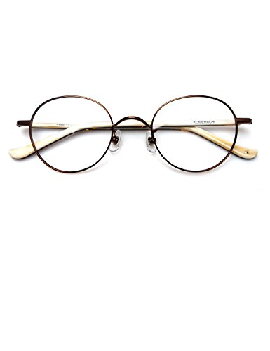 62537d41393 Komehachi - Round Thin Full Rim Prescription Ready Clear Lens Reading  Eyeglasses