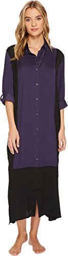 DKNY Look Of Luxe Maxi Woven Nightgown, M, Plum - Dkny Roll