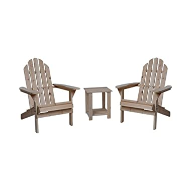 Northern Tool and Equipment Fir Wood Adirondack Chairs with Table - 3-Pc. Combo