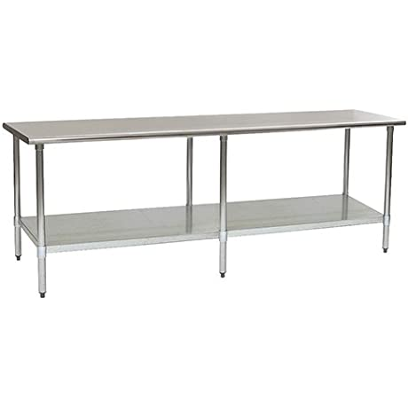 Eagle T3696SEB Stainless Steel Work Table With Stainless Steel Shelf Base 36 X 96 X 30