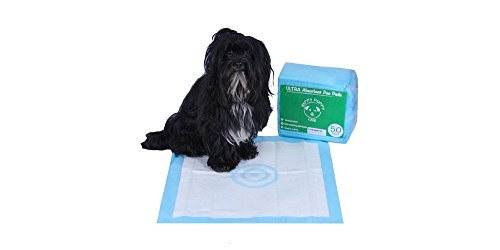 50-Count Absorbent Puppy Training Pee Pads with target - 22.5 x 22.5