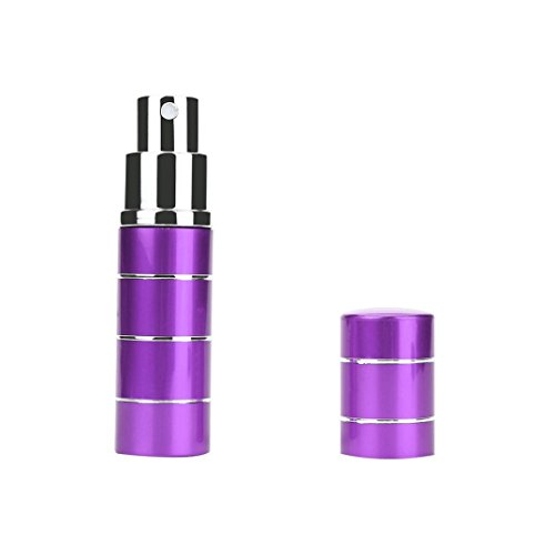 Creazy 10ml Perfume Bottle Mini Portable Travel Refillable Perfume Atomizer Bottle (Purple) (Mini Cologne Oz 1)