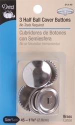 Bulk Buy: Dritz Half Ball Cover Buttons Size 45 1 1/8
