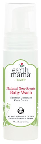 Earth Mama Natural Non-Scents Baby Wash Gentle Castile Soap For Sensitive Skin, 5.3-Fluid Ounce