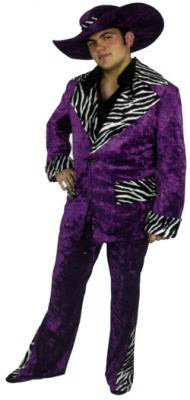 Adult Hot Purple Mac Daddy Suit (Mac Daddy Suit Costumes)