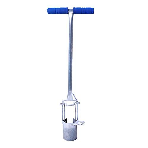 CHUMAA Bulb Planter, Weeder, Sod Plugger, Flower Planting, Soil Sampler - 5-in-1 Lawn Tool and Garden Tool - Enhanced Bottom Edge for Easier Penetration, 33.5 Inch