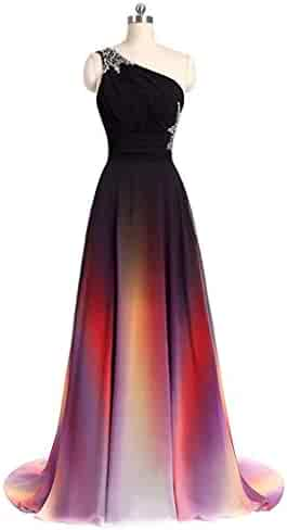 a96c46ad195 Orcle Women s Gradient Prom Dresses Chiffon A-line Formal Evening Dresses  Long Party Gowns 2019