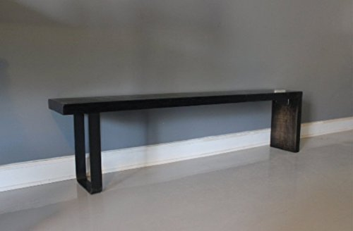 Wooden Bench, Plank Bench, Reclaimed Wood, Handmade, Furniture, Handmade Wood Bench, Steel Bench