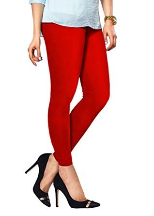 dd5aa66447f500 preet gehna Ankle Length red Colour Leggings;Free Size: Amazon.in: Clothing  & Accessories