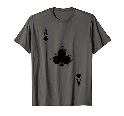 Group Matching Halloween Costume Play Cards Ace of Clubs T-Shirt