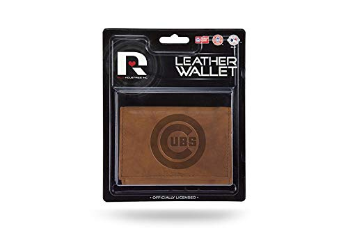 Rico Industries Chicago Cubs Trifold Standard Authentic Embossed Leather Wallet NWT Baseball