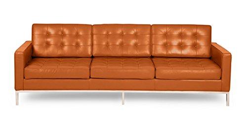 Kardiel Florence Knoll Style Sofa 3 Seat, Caramel Aniline Premium Leather