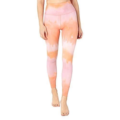charmsamx Seamless High Waist Yoga Pants for Women Digital Printed Tummy Control Workout Running Yoga Leggings Butt Lift Gym Athletic Tights Sports ()