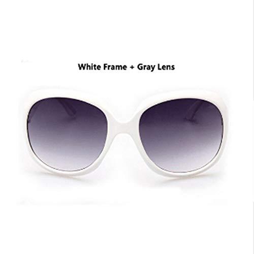 Soleil Vintage Femmes Shopping Plein Classique Conduite Hommes Été Grandes Lunettes Air Voyage Style En Lonyenma De White Parti Gray amp; qxta808n