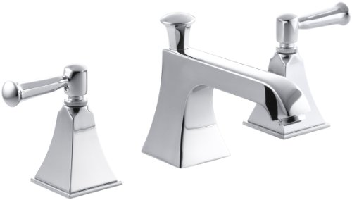 KOHLER K-454-4S-CP Memoirs Widespread Lavatory Faucet with Stately Design, Polished Chrome