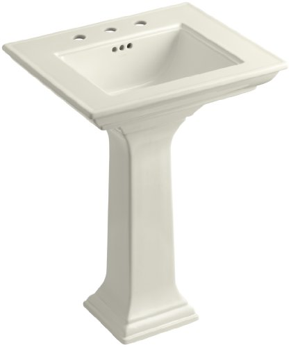 KOHLER K-2344-8-96 Memoirs Pedestal Bathroom Sink with Stately Design and 8