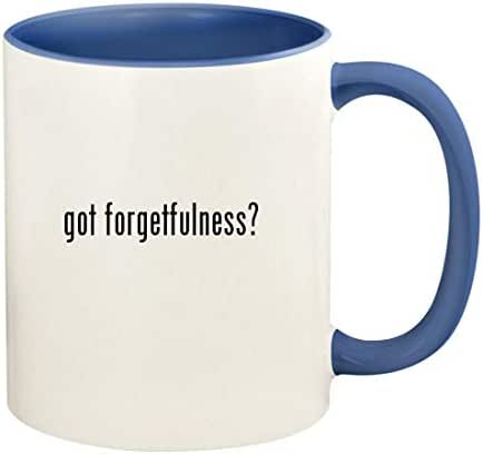 got forgetfulness? - 11oz Ceramic Colored Handle and Inside Coffee Mug Cup, Cambridge Blue