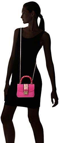 FURLA Candy Esotica Meringa Mini Crossbody - Borse a tracolla Donna, Rosa (Fuchsia D), 6.5x12x17 cm (B x H T)