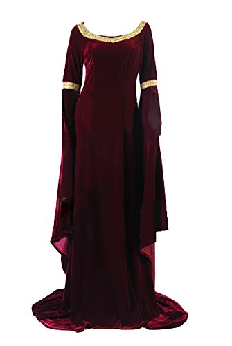 Arwen Costume (The Lord of the Rings Costume Cosplay Arwen's Cranberry Gown X-Large)