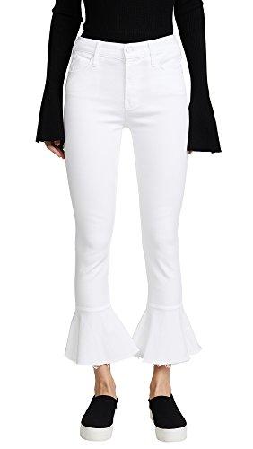 MOTHER Women's Cha Cha Fray Jeans, Glass Slipper, - Glasses Denim