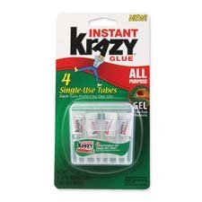 ELMERS Instant Krazy Glue All-Purpose Gel with Single Use Tube, 0.75G, Clear (KG86748SN)