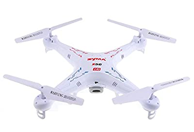 Quadcopter Channel Remote Controlled HD Camera for Real Time Video Transmission, White