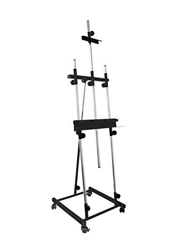 Sonpo Online - Modelo Goya Negro - Caballete de Pintura Profesional para Pintar Cuadros - Estructura de Acero de Alta Resistencia con Acabados en Color Negro
