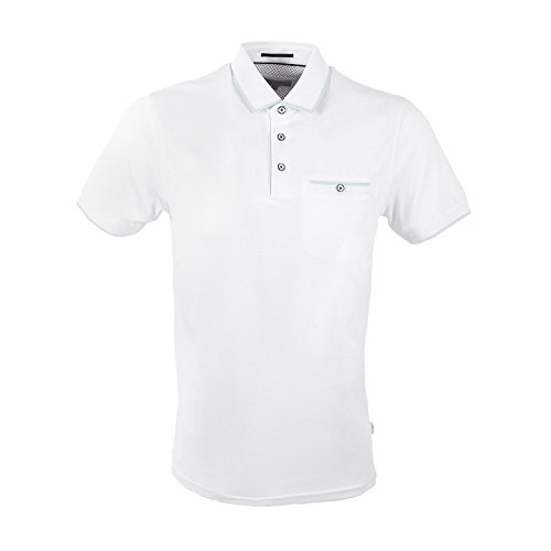 Ted Baker Jelly Polo Shirt in White 2XL