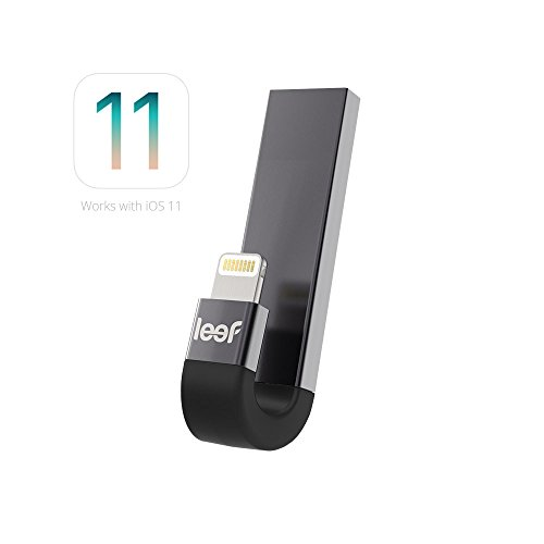 Leef iBridge 3 - iPhone Flash Drive 128GB (Black) - Expanded Memory for iPhone and iPad by Leef