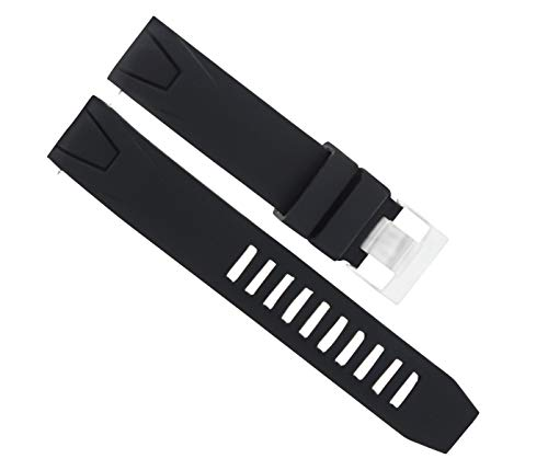 20MM RUBBER STRAP FOR 41MM OMEGA BAND SEAMASTER PLANET OCEAN BLACK TOP QUALITY